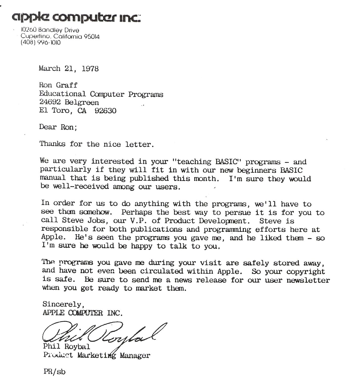 [Letter From Steve Jobs The] lsd inventor remarkable